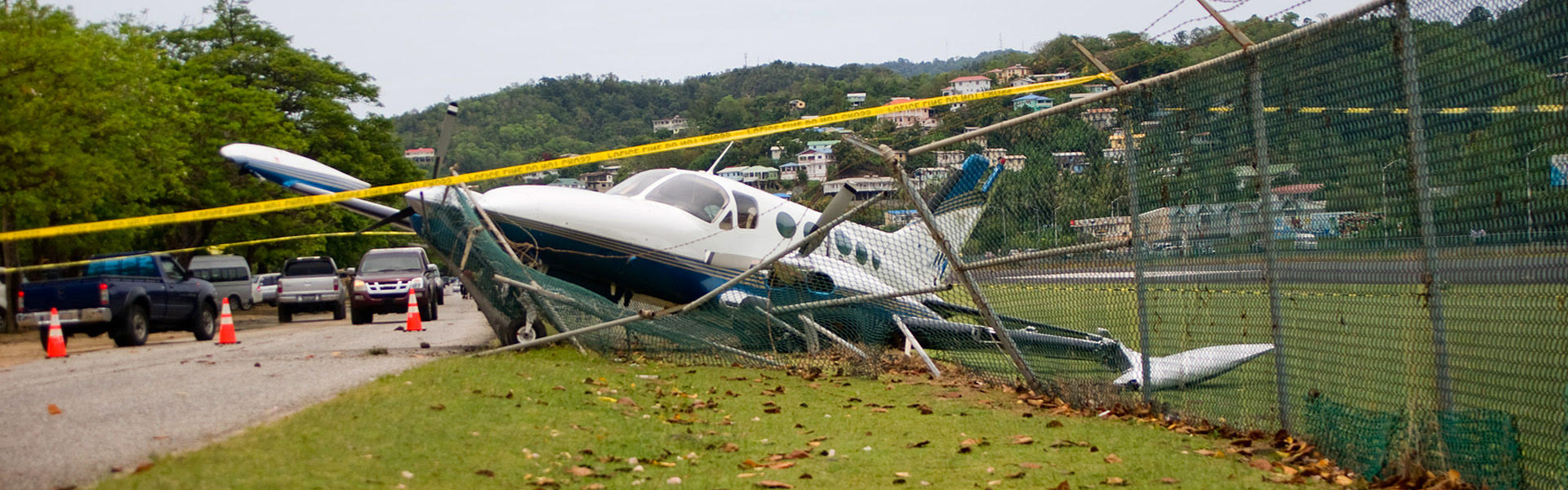 Scene of an aircraft accident